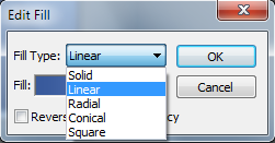 PhotoPlus - edit Fill Type