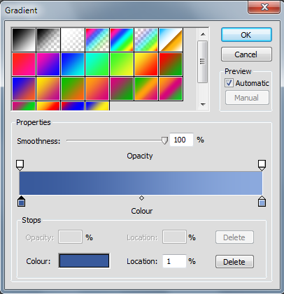 PhotoPlus Gradient Dialog