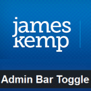 JCK Admin Bar Toggle for Wordpress