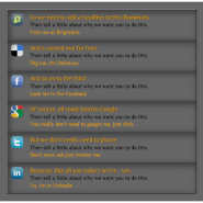 Social Bookmark Icons with CSS3