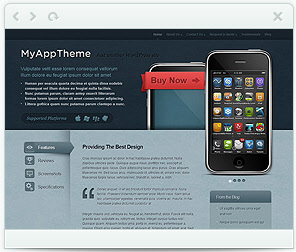 MyApp theme for WordPress