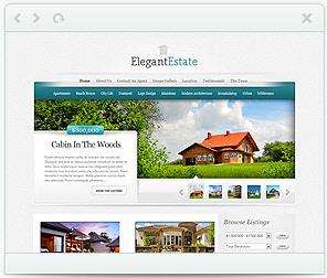 Elegant Estate - real estate WorPress Theme