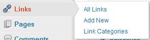 wordpress-blogroll-link-menu