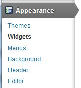 wordpress-widget-area-menu