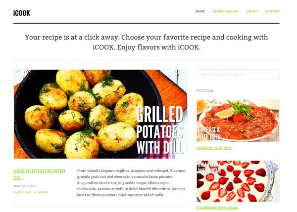 iCook Food Blog Theme