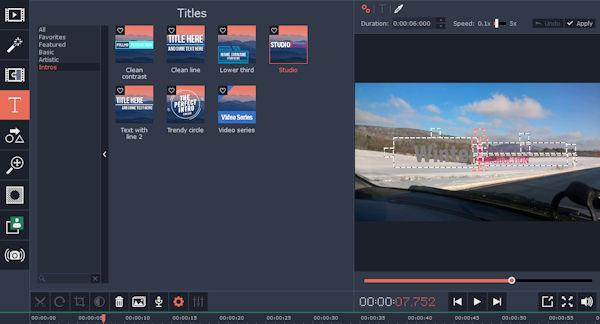 Movavi Slideshow Maker Text Elements