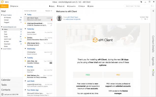 eM Client Feature rich e-mail software