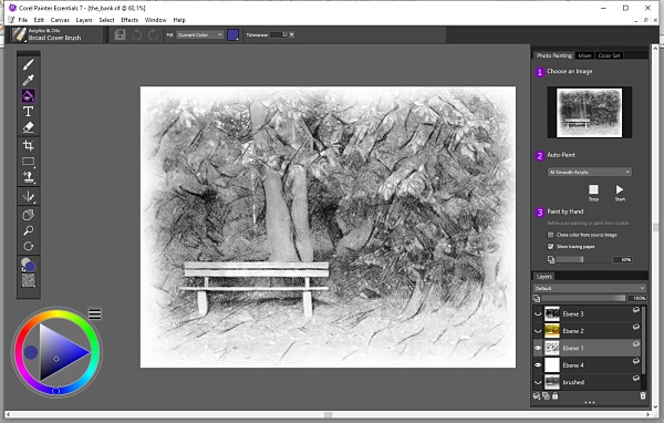Corel Painter Essentials interface